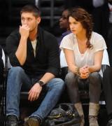 Nov 24, 2010 - Danneel Harris and Jensen Ackles at Lakers Game in Los Angeles B62bce108348225