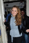 Kimberley Walsh leaving the theatre after performing in Shrek The Musical in London, 7 December, x6